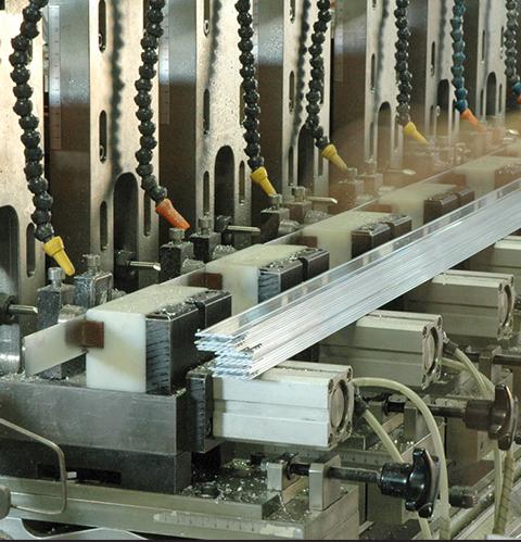 Piaskowanie profili aluminiowych